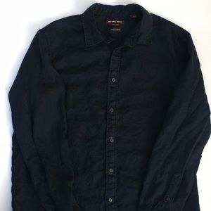 MICHAEL KORS long sleeve button down in navy
